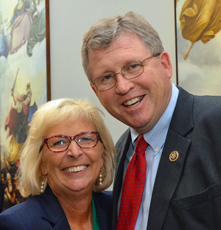 Sara Wyant with Agri-Pulse and Rep. Frank Lucas