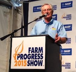 Guebert during 2015 Farm Progress Show