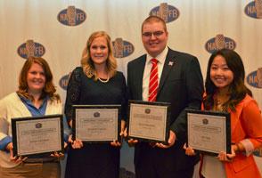 NAFB Scholarship winners Kelsey Litchfield, Samantha Capoun, Bryce Doeschot, and Hli Young