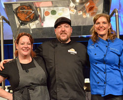 Spud Nation Throwdown finalists: Heather Banter, Daniel McCarthy, Bridgette Blough (winner)