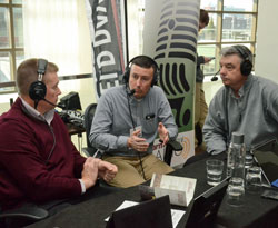 Illinois farmer David Brown (R) and another SHS participant on AgriTalk