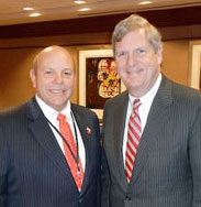 Agriculture Secretary Tom Vilsack with AFBF president Zippy Duvall in 2013 when Duvall was president of Georgia FB