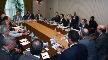 USDA photo of Secy Vilsack taking part in biofuels roundtable in Peru