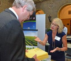 USDA Secretary Vilsack visits with BBT's Terri Mallioux