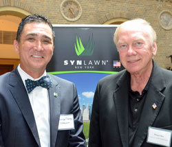 George Neagle of SYNLawn with Doug Giles, Universal Textile Technologies