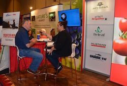FMC's Matt Rackerby discussing Rhyme and Fracture fungicides during the 2016 CAPCA Conference.