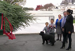 First Lady Michelle Obama and her nephews with Dave and Mary Vander Velden at the White House