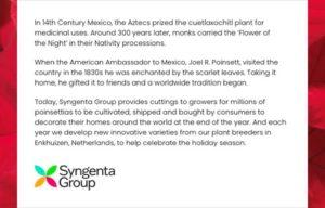 Syngenta Media Group Holiday Info